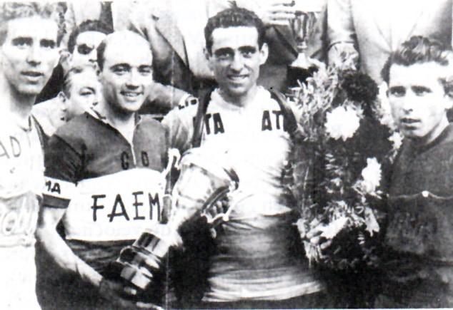 Volta a Cataluna '57  Bahamontes, Poblet, Lorono e Esmatges