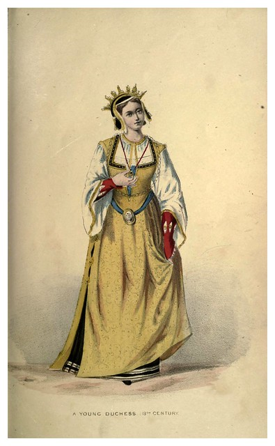 008-Joven duquesa del siglo XIII-Select historical costumes compiled from the most reliable sources -1868