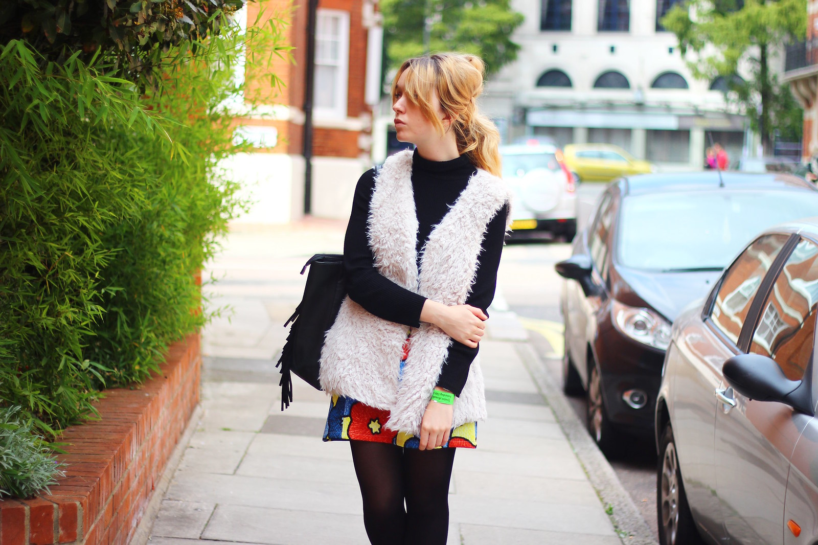 3boohoo, outfit, highstreet, retro, fashion, fauxfur