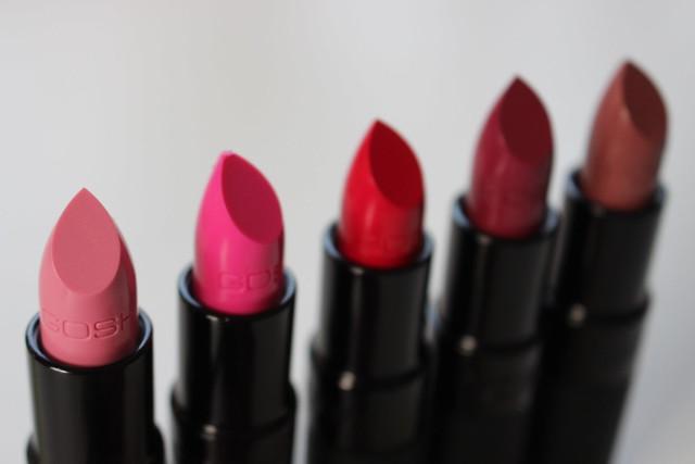 GOSH Lipsticks ByDagmarValerie