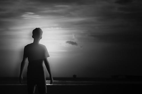 sunset shadow bw silhouette blackwhite shore