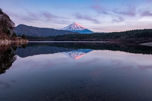 nikond810a mtfuji sunset 夕焼け 富士山 西湖 lake