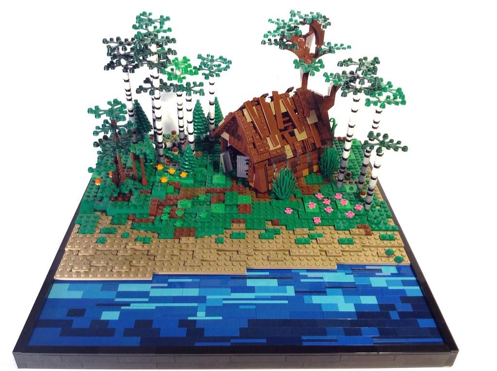 Russian forest (custom built Lego model)