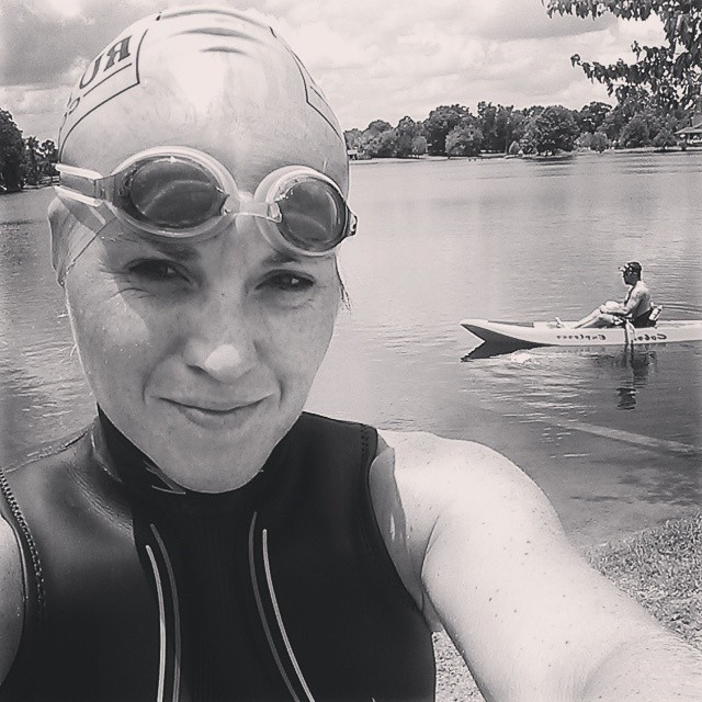 Going in solo... #justkeepswimming #swimming #furtherfasterforever #triouradventure
