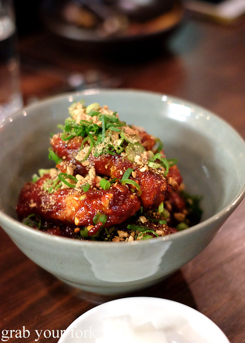 TKFC Tae Kyu fried chicken at Kim Restaurant, Potts Point