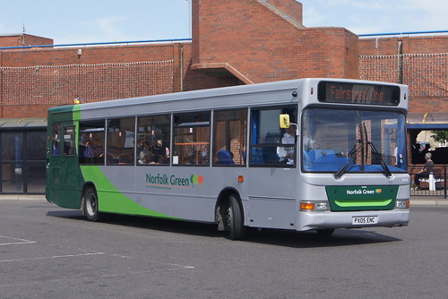 Stagecoach Norfolk Green 34701 PX05 ENC, King's Lynn bus station 13/06/14 © David Bell
