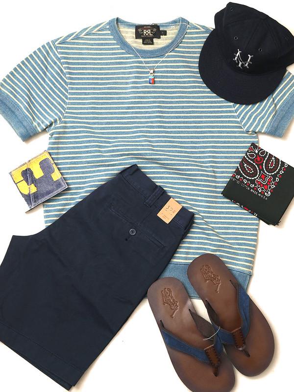 RRL / Ribbed-Cuff T-Shirt