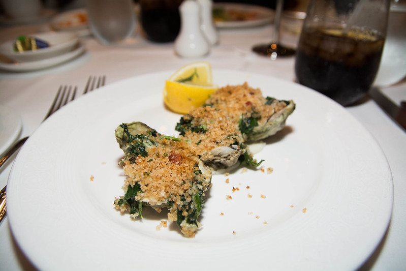 Oysters Rockefeller on the Half Shell