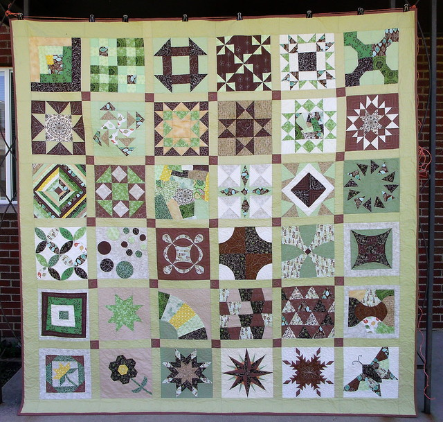 Finished<br /> Skill Builder Sampler quilt