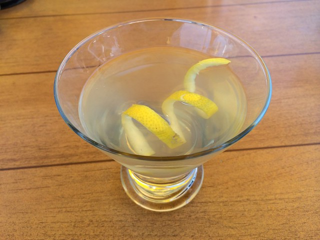 Pear-ginger martini - Salty's on Alki Beach