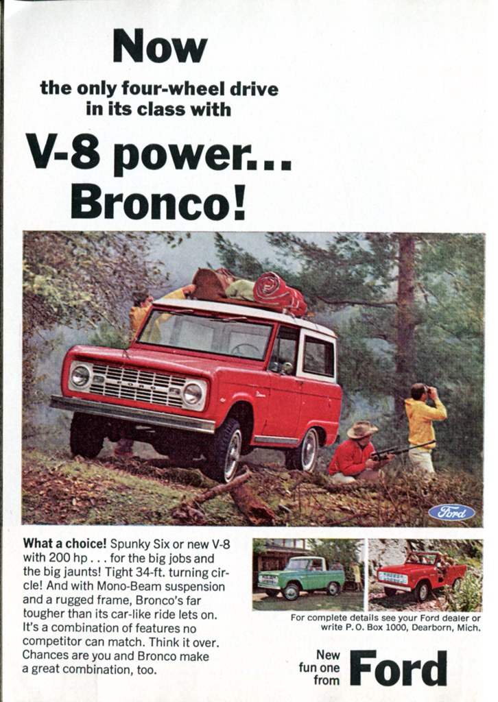 1966 Ford Bronco Advertisement Readers Digest May 1966