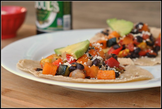 Roasted Vegetable and Black Bean Tacos 2