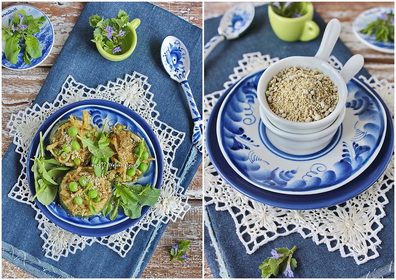 ...zucchini green cheese collage