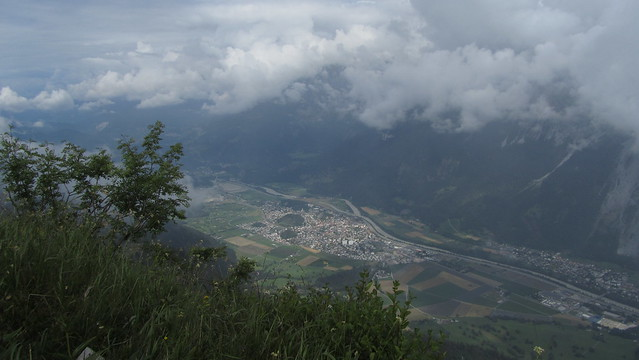 Town of Domat / Ems below