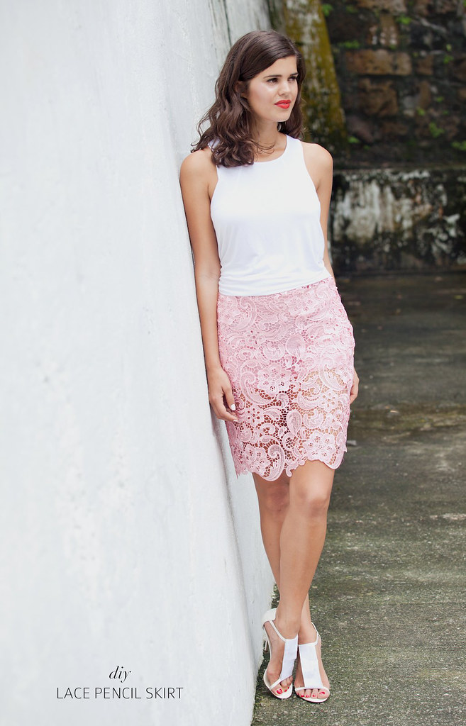 Make a summer lace skirt www.apairandasparediy.com