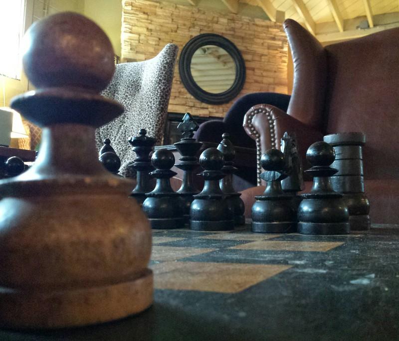 Giant's chess set