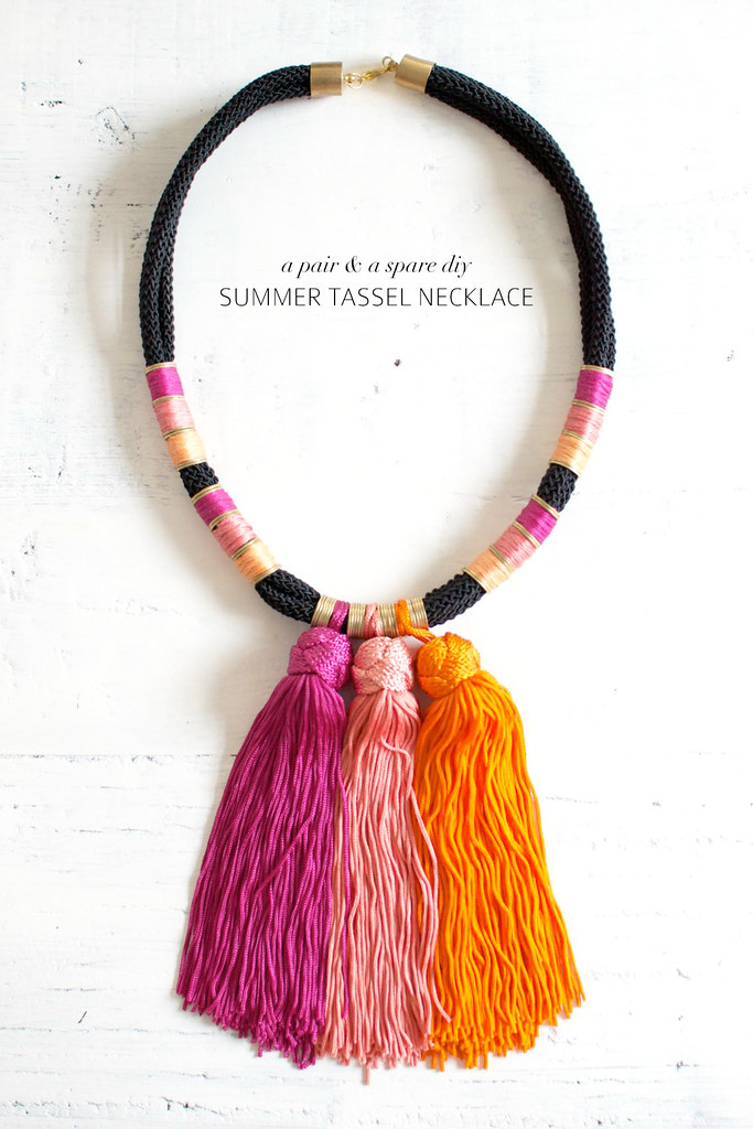 Beautiful DIY Summer Tassel Necklace | A Pair & A Spare TS18