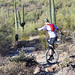 Unicyclist in the desert