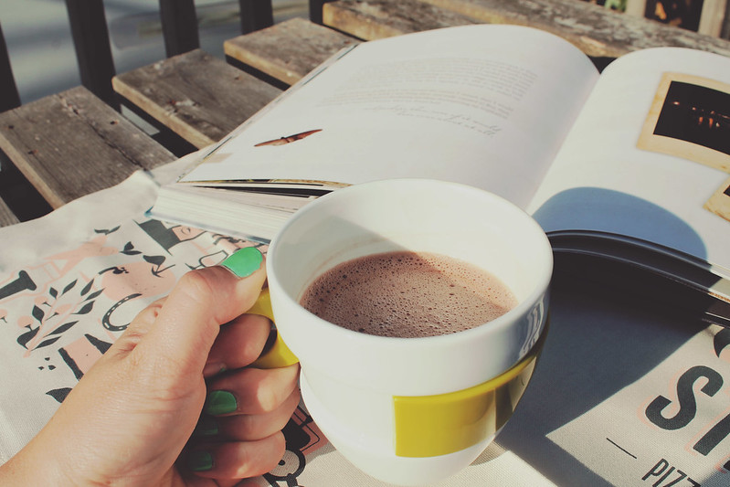 Reading and hot chocolate