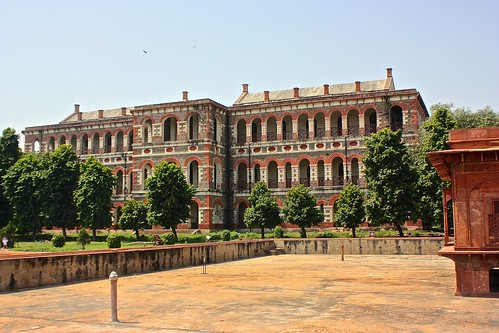 British quarters in the Red Fort in Delhi