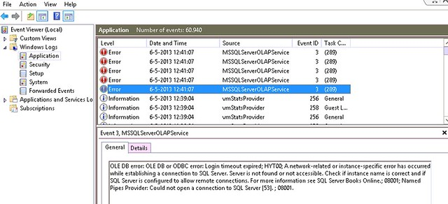 MSSQLServerOLAPService error