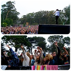 Looking through photos from the weekend at @outside_lands. @capitalcities had these kids raging!! #OutsideLands #pitview
