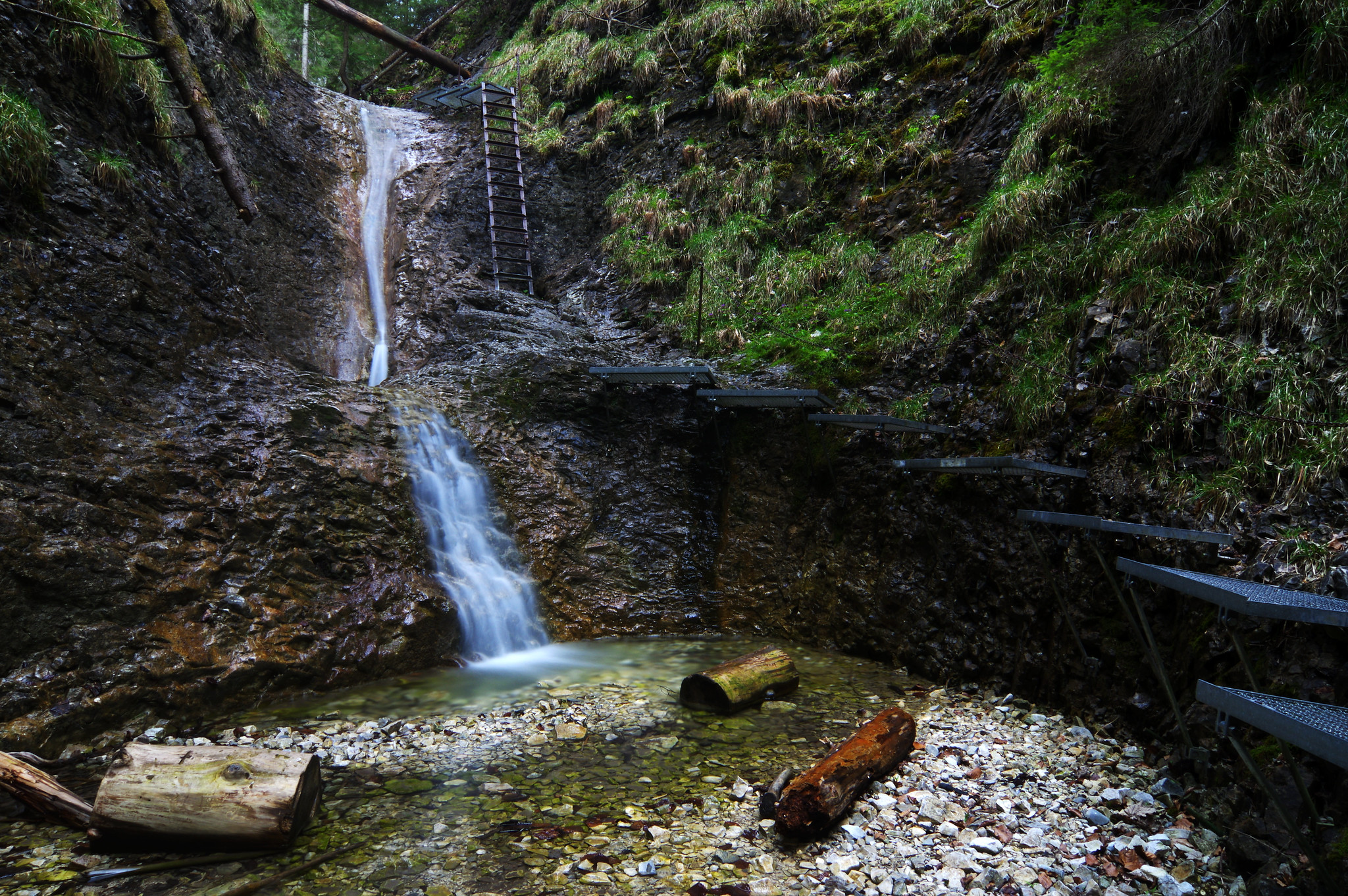 Korytový vodopád waterfall in Piecky gorge