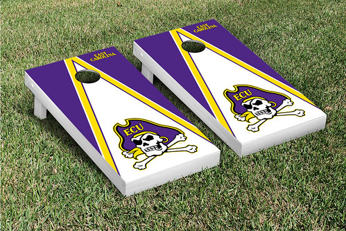 East Carolina University ECU Pirates Cornhole Game Set Triangle