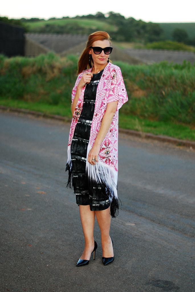 Claudia Meller fringed kimono