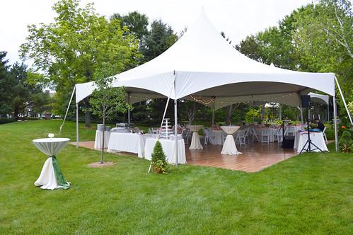 Tent and Garden Wedding by Festivities MN