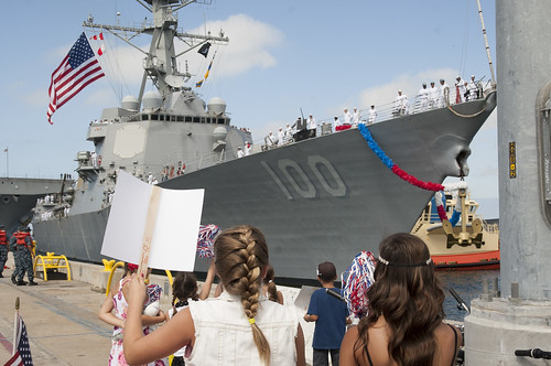 USS Pinckney and USS Kidd Return from Deployment