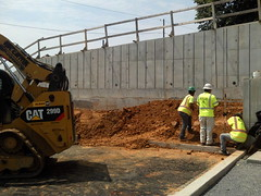 Backfilling at the CBTC wall.