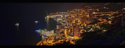 city light costa night canon landscape eos montecarlo monaco panoramica luci notte città casinò azzurra cotè azour 1dsmkiii