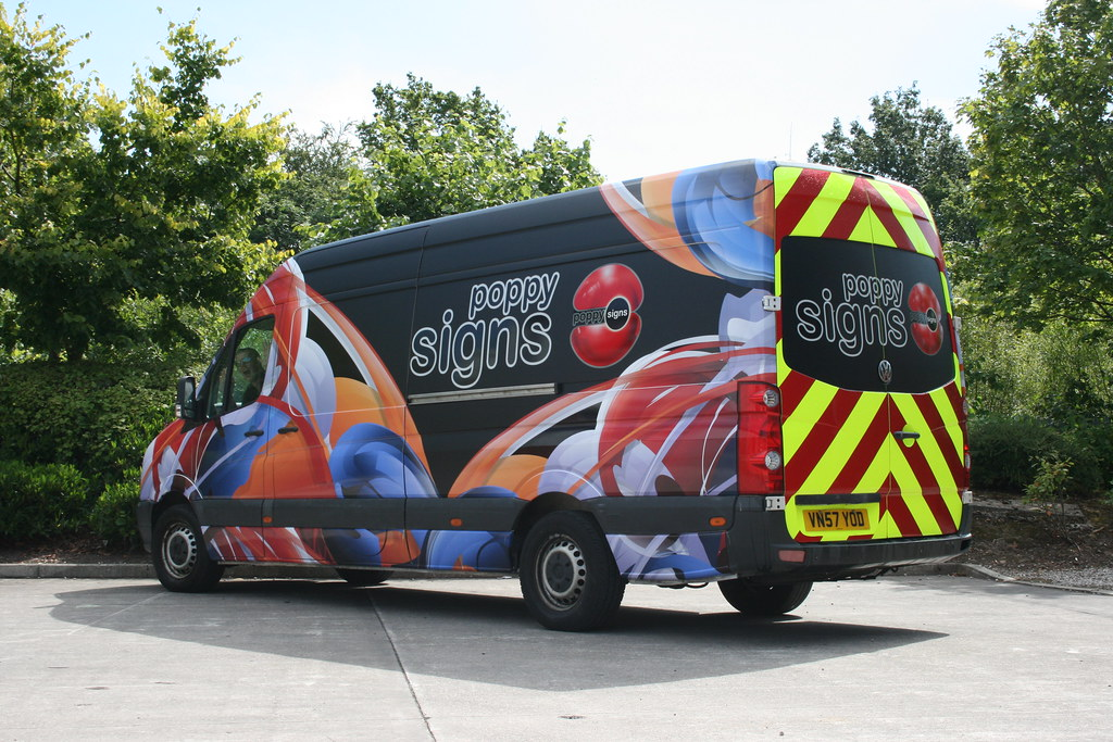 Full colour digitally printed wrap, with Chapter 8 chevrons on the rear