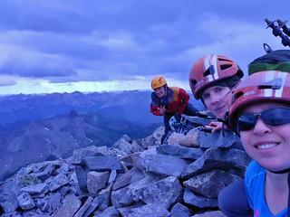 Three Mountaineers on Gladstone Peak