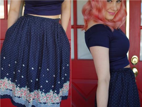 sidecca floral skirt