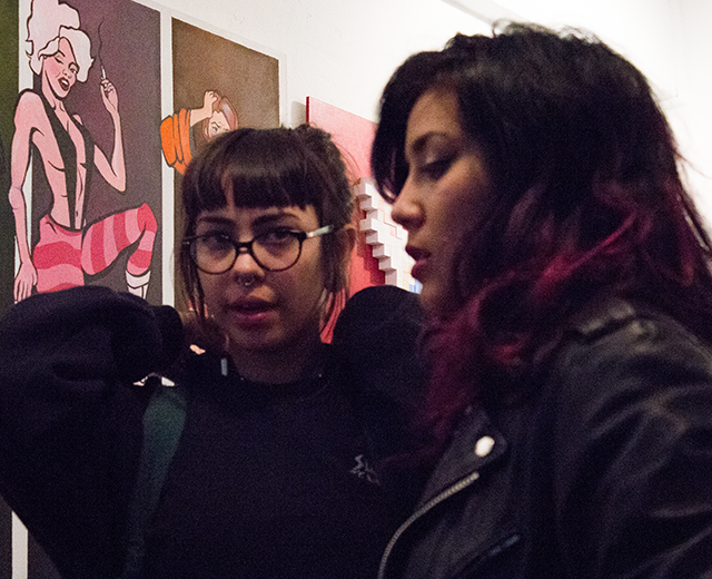 art show shenanigans at SideQuest Gallery, 8/9/2014