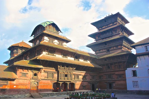 The Royal Palace in Durbar Square Kathmandu