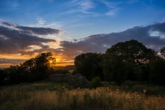 Last light at Thurnham Castle