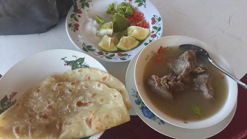 Goat soup and chapati