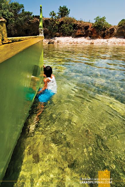 Our Boy Boatman at Dasol's Balas Nagtaros Island