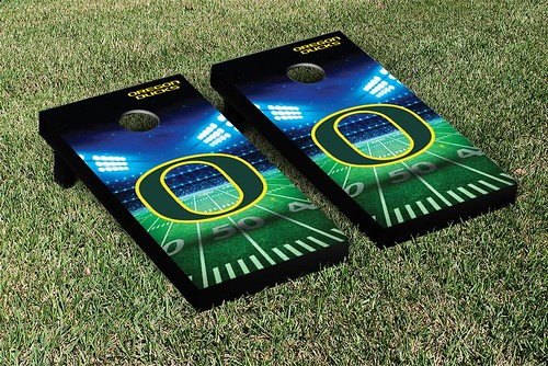Oregon Ducks Cornhole Game Set Stadium Version