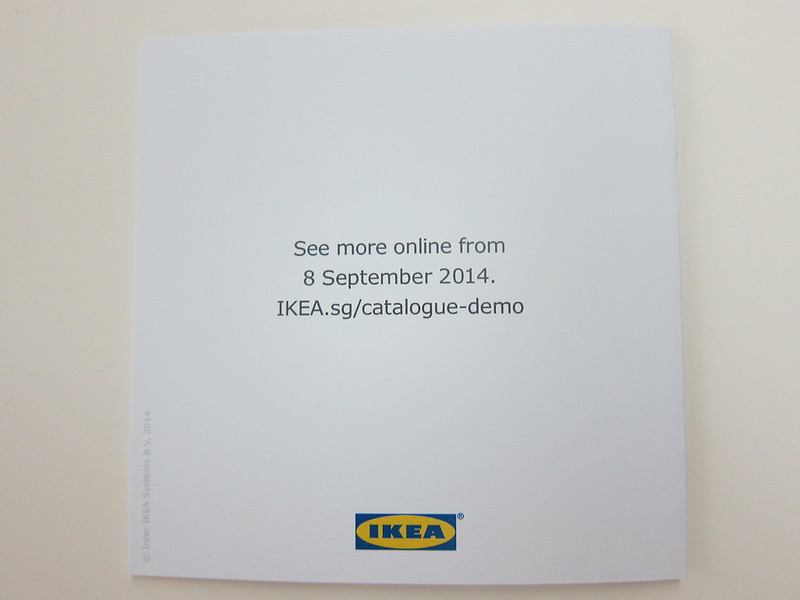 Ikea 2015 Catalogue - Quick Start Guide Back