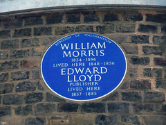 Photo of William Morris and Edward Lloyd blue plaque
