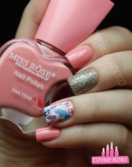 Miss Rôse 013 + Glitter + Adesivo de Unha