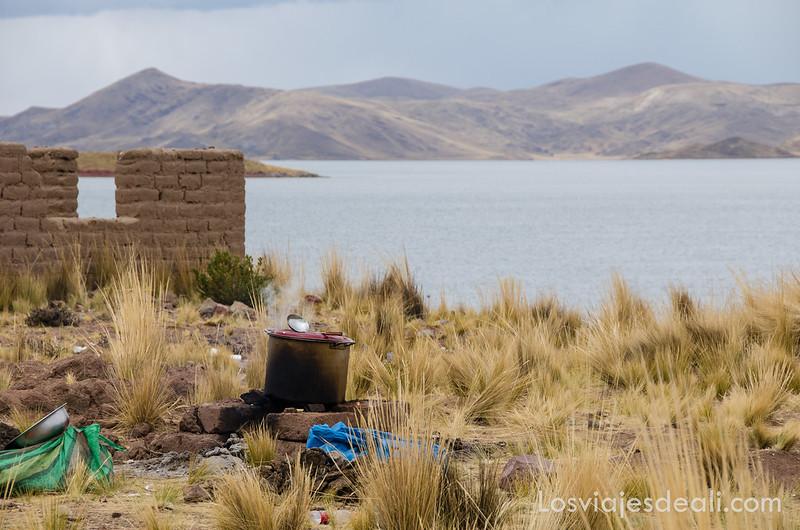 alto lagunillas de camino a Península de Capachica en Perú