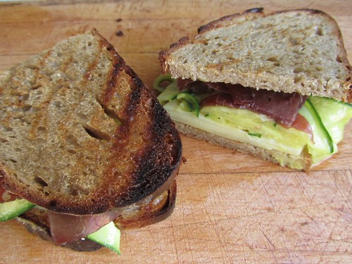 ©Pickled Cucumber, Bresaola, Emmentaler sandwich from Nigel Slater