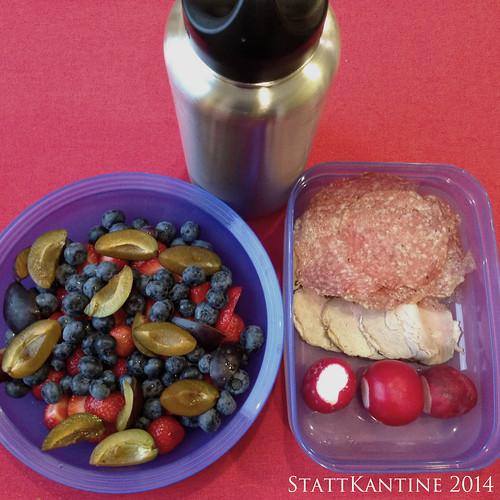 StattKantine 23.09.14 - Aufschnitt, Obst, Schorle