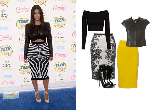 Kim Kardashian style crop top