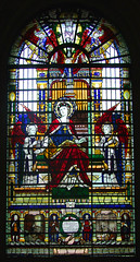 Henry Wood memorial window: St Cecilia